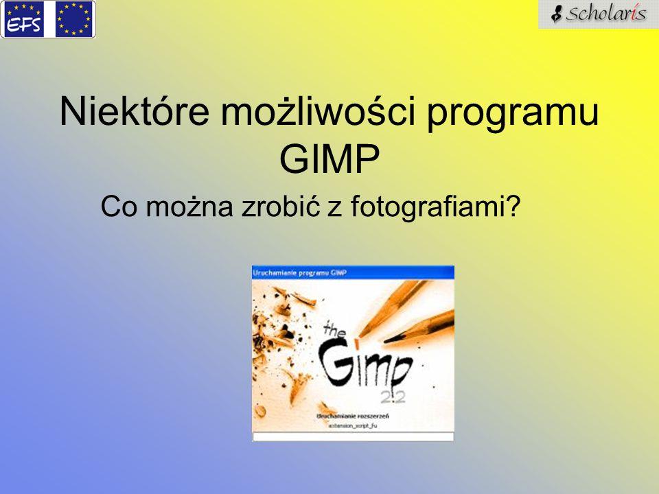 Niektóre możliwości programu GIMP