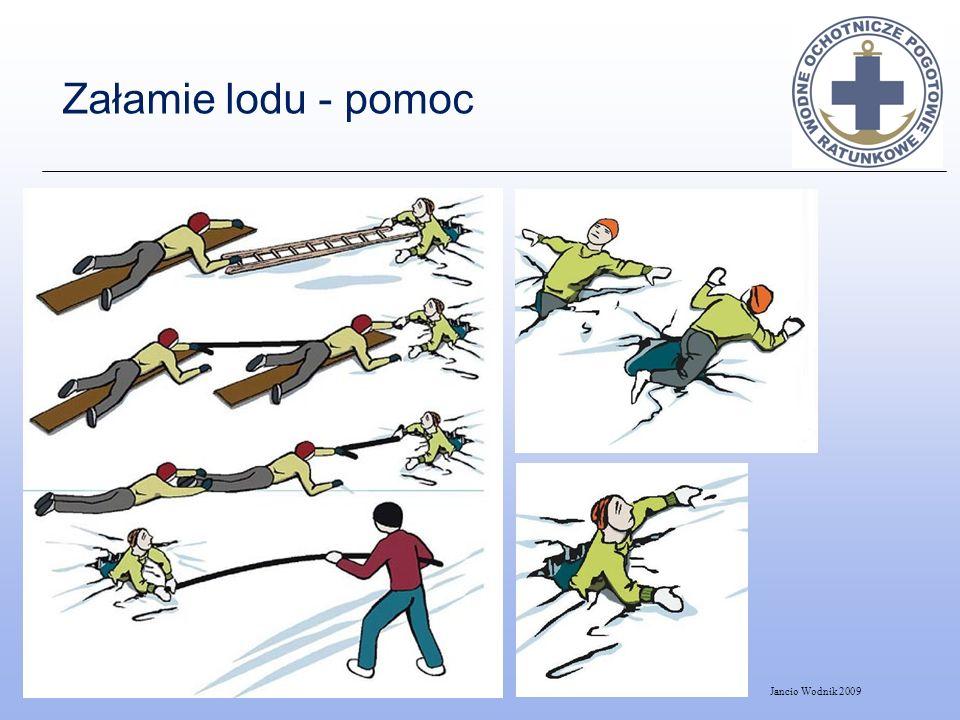 Załamie lodu - pomoc Jancio Wodnik 2009