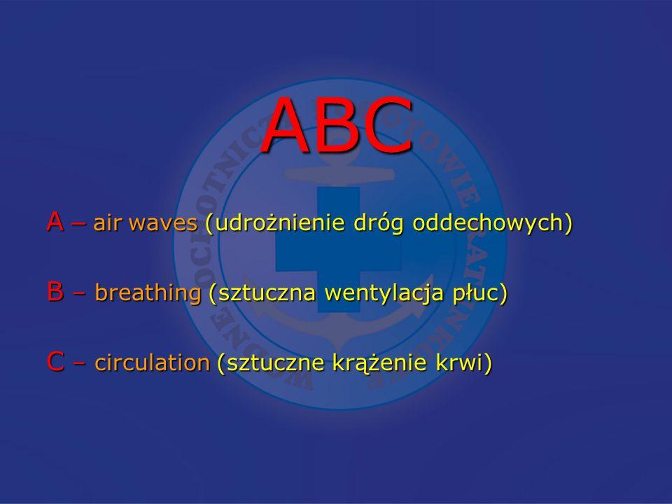 ABC A – air waves (udrożnienie dróg oddechowych)