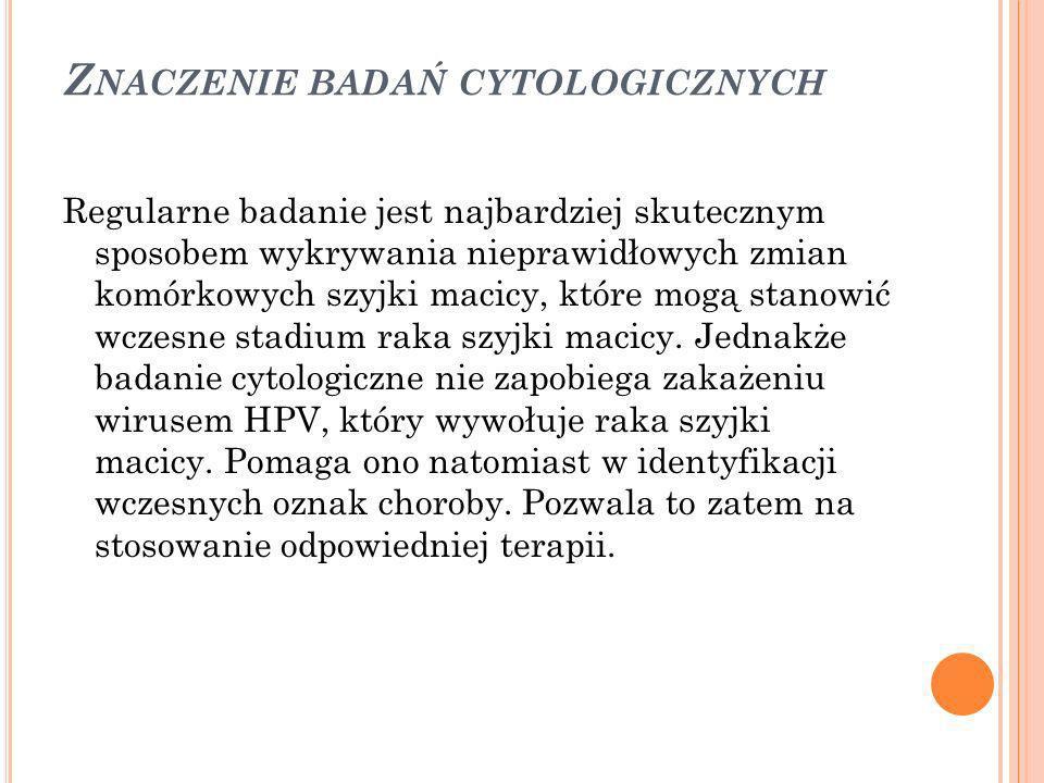 Znaczenie badań cytologicznych