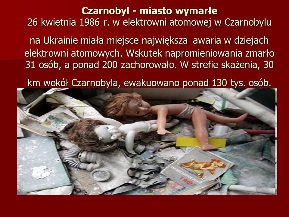Czarnobyl - miasto wymarłe 26 kwietnia 1986 r