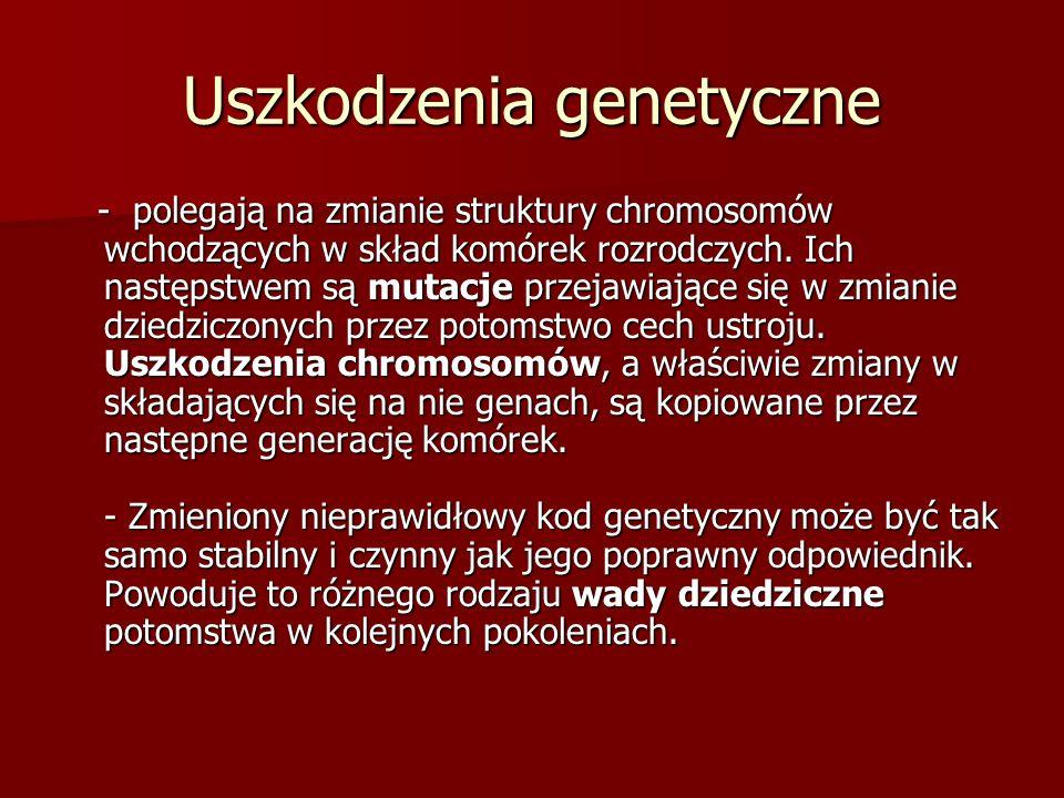 Uszkodzenia genetyczne