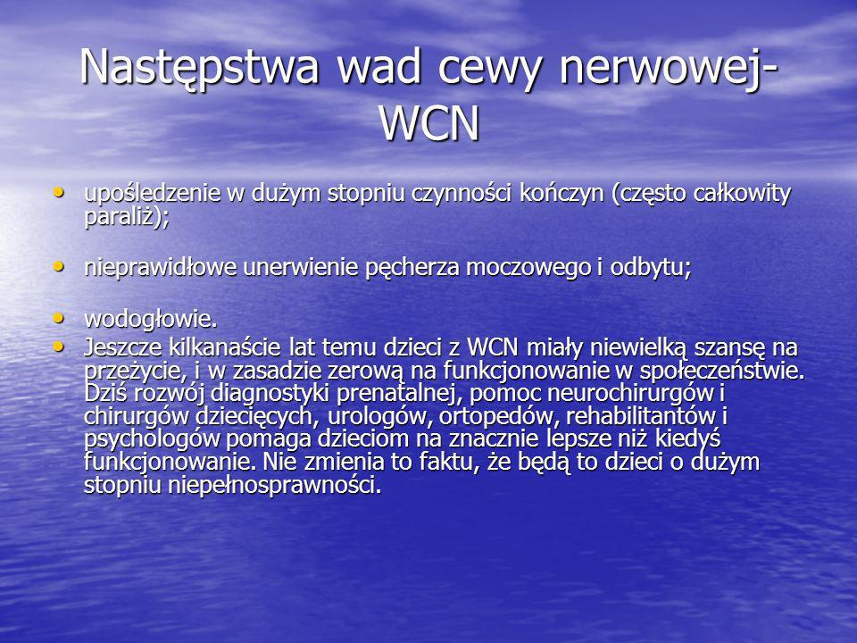 Następstwa wad cewy nerwowej-WCN