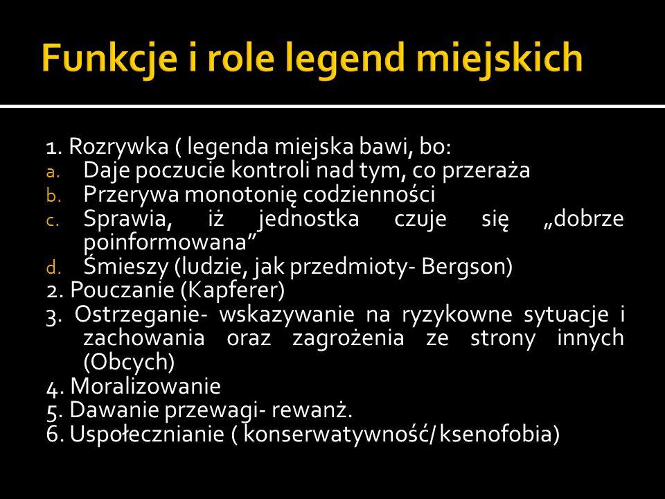 Funkcje i role legend miejskich