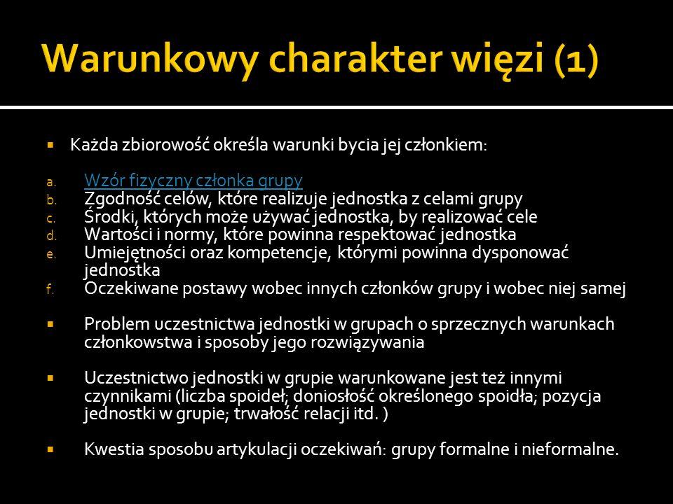 Warunkowy charakter więzi (1)