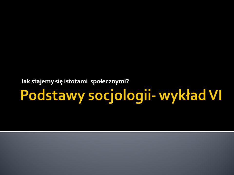 Podstawy socjologii- wykład VI