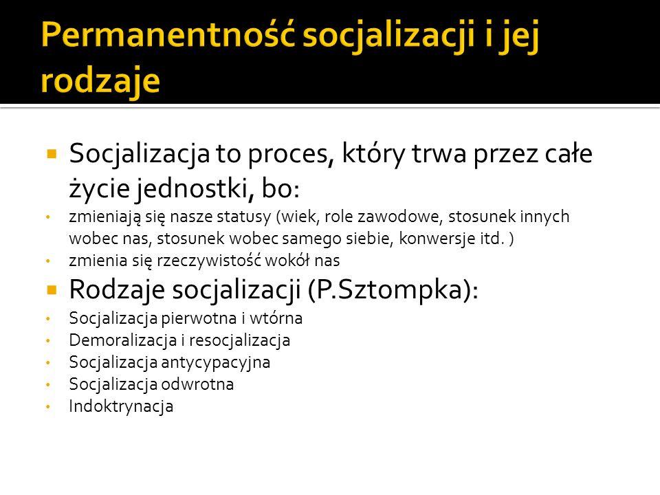 Permanentność socjalizacji i jej rodzaje