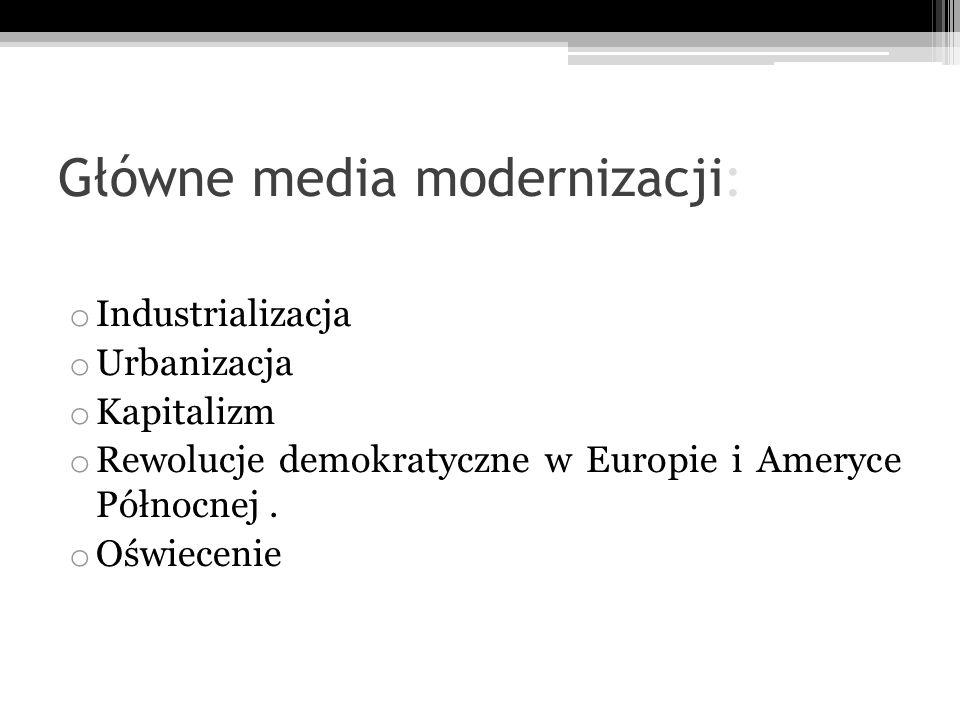 Główne media modernizacji: