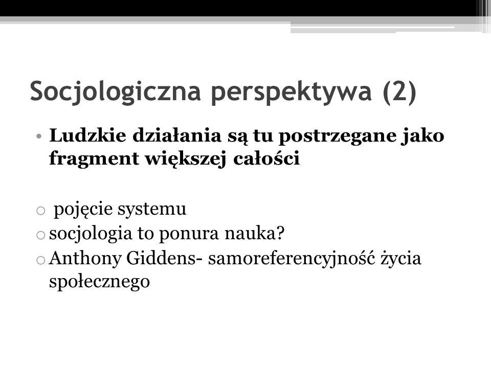 Socjologiczna perspektywa (2)