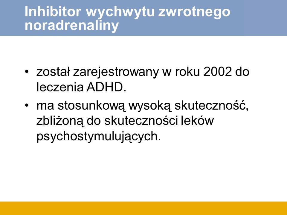 Inhibitor wychwytu zwrotnego noradrenaliny