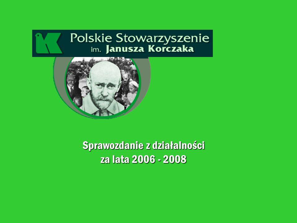 Sprawozdanie z działalności za lata 2006 - 2008