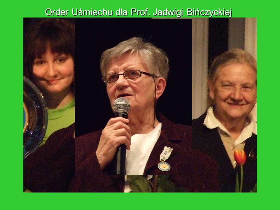 Order Uśmiechu dla Prof. Jadwigi Bińczyckiej