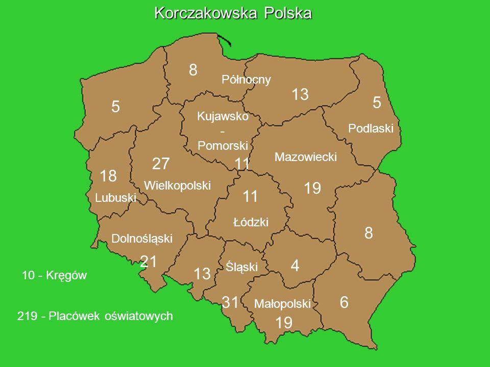 Korczakowska Polska 8 13 5 5 27 11 18 19 11 8 21 4 13 31 6 19 Północny