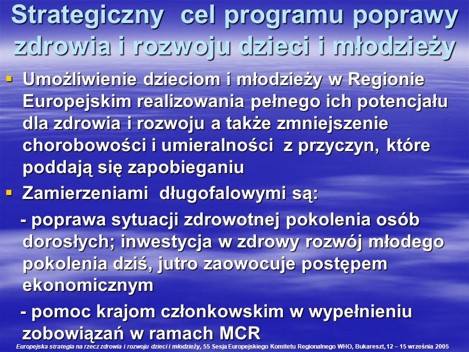 Strategiczny cel programu poprawy zdrowia i rozwoju dzieci i młodzieży