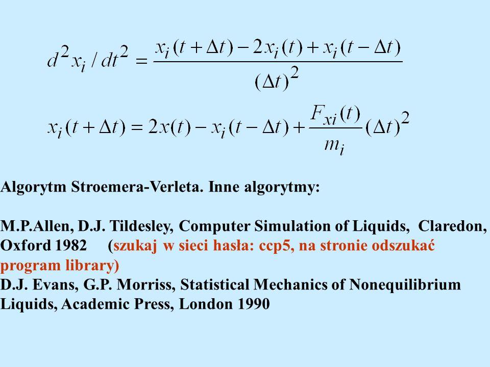 Algorytm Stroemera-Verleta. Inne algorytmy: