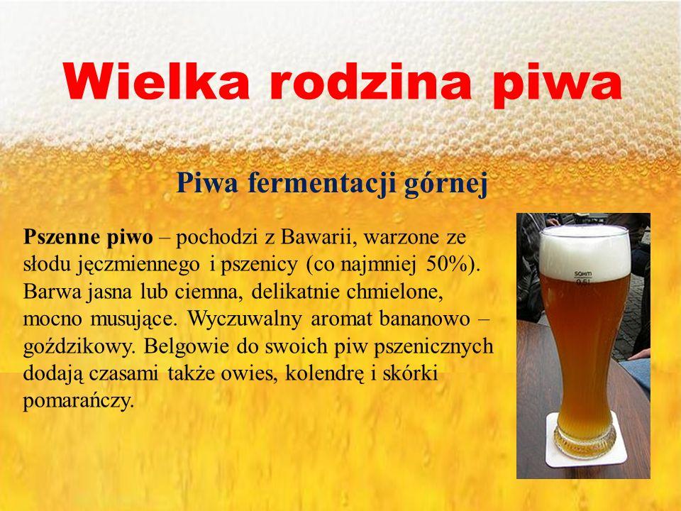 Piwa fermentacji górnej