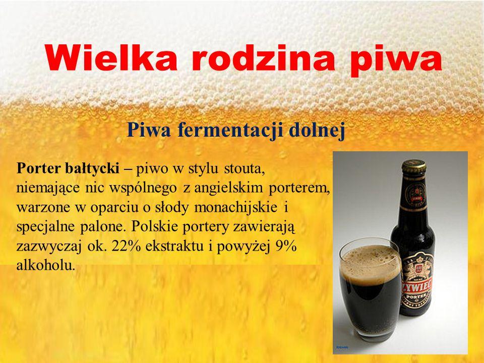 Piwa fermentacji dolnej