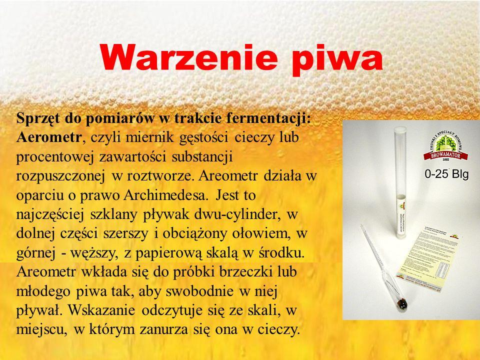 Warzenie piwa Sprzęt do pomiarów w trakcie fermentacji: