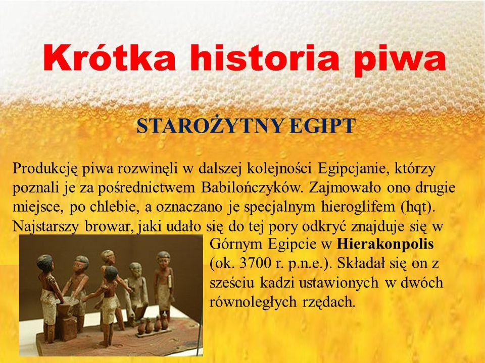 Krótka historia piwa STAROŻYTNY EGIPT
