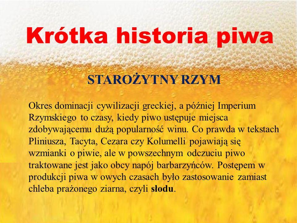 Krótka historia piwa STAROŻYTNY RZYM