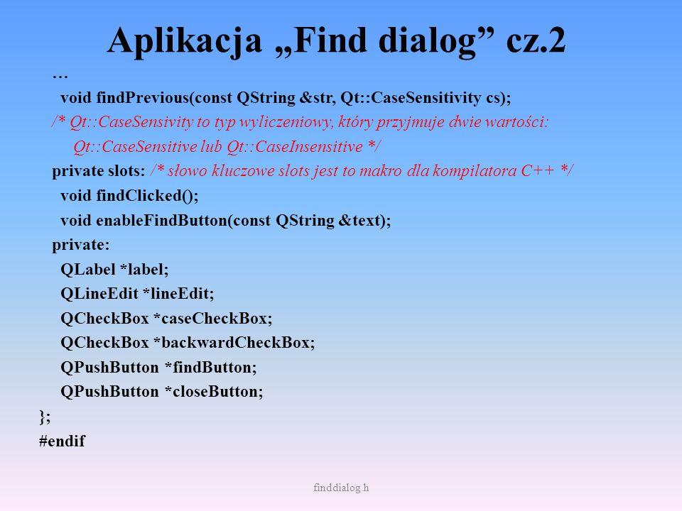 """Aplikacja """"Find dialog cz.2"""