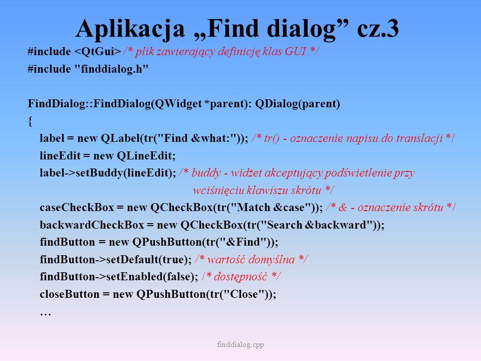 """Aplikacja """"Find dialog cz.3"""