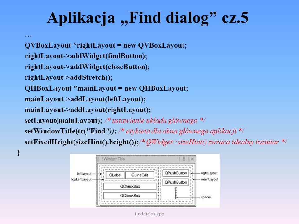 """Aplikacja """"Find dialog cz.5"""