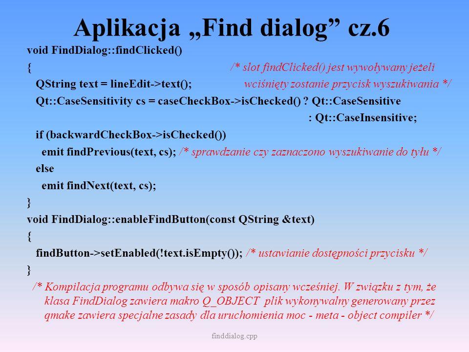 """Aplikacja """"Find dialog cz.6"""