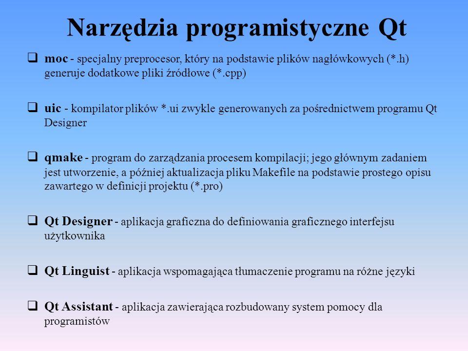 Narzędzia programistyczne Qt