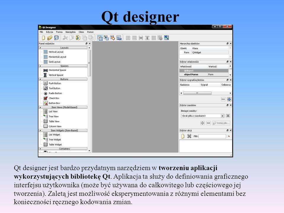 Qt designer