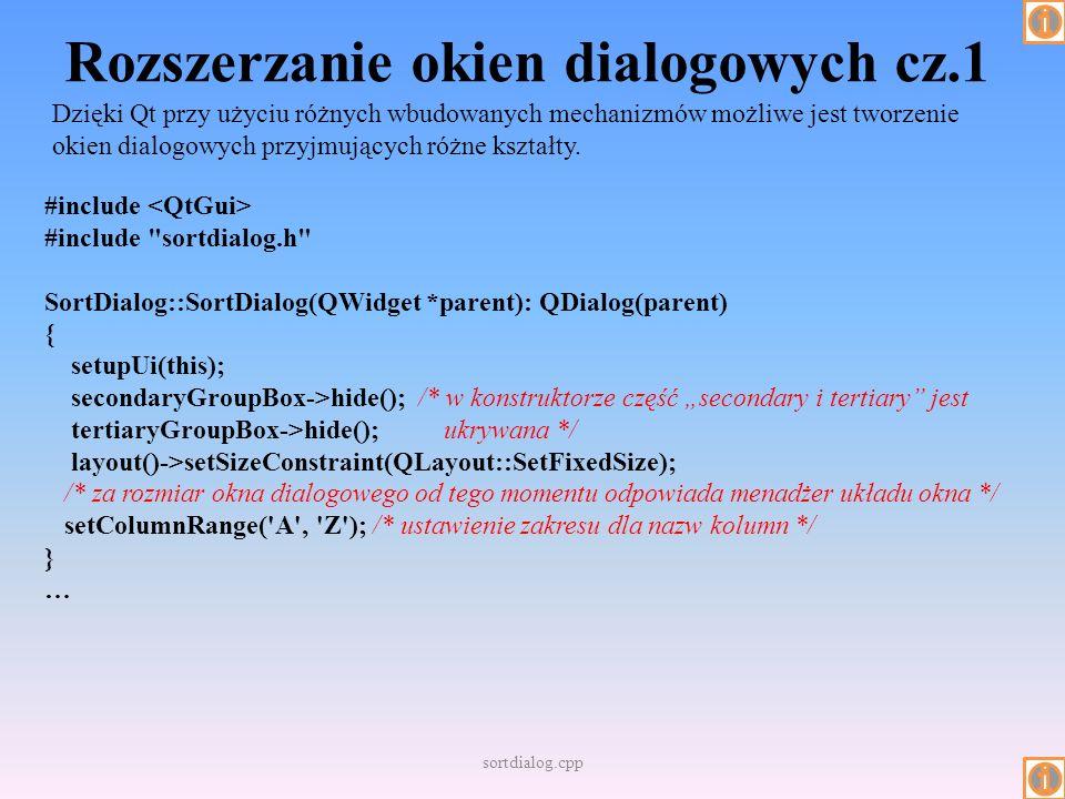 Rozszerzanie okien dialogowych cz.1