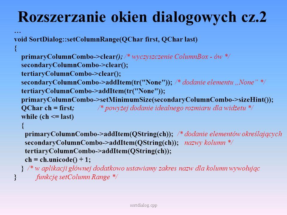 Rozszerzanie okien dialogowych cz.2