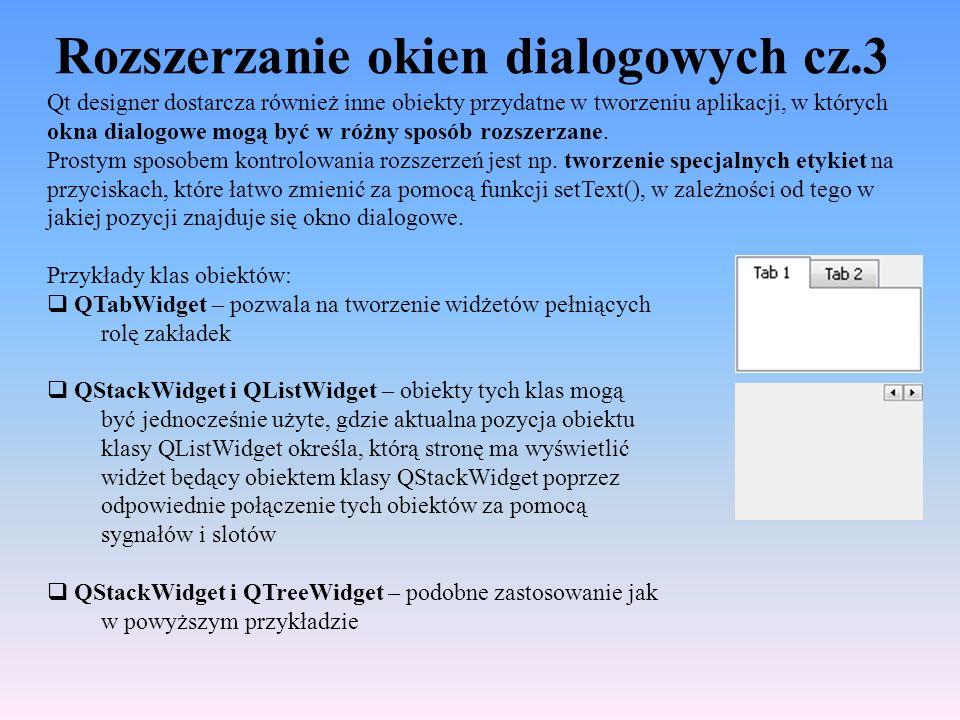 Rozszerzanie okien dialogowych cz.3