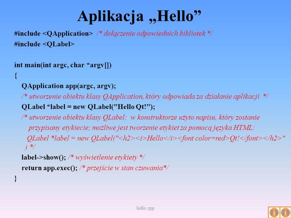 "Aplikacja ""Hello"