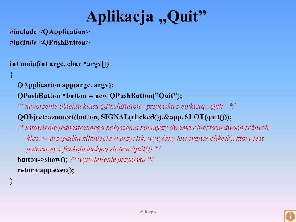 "Aplikacja ""Quit"