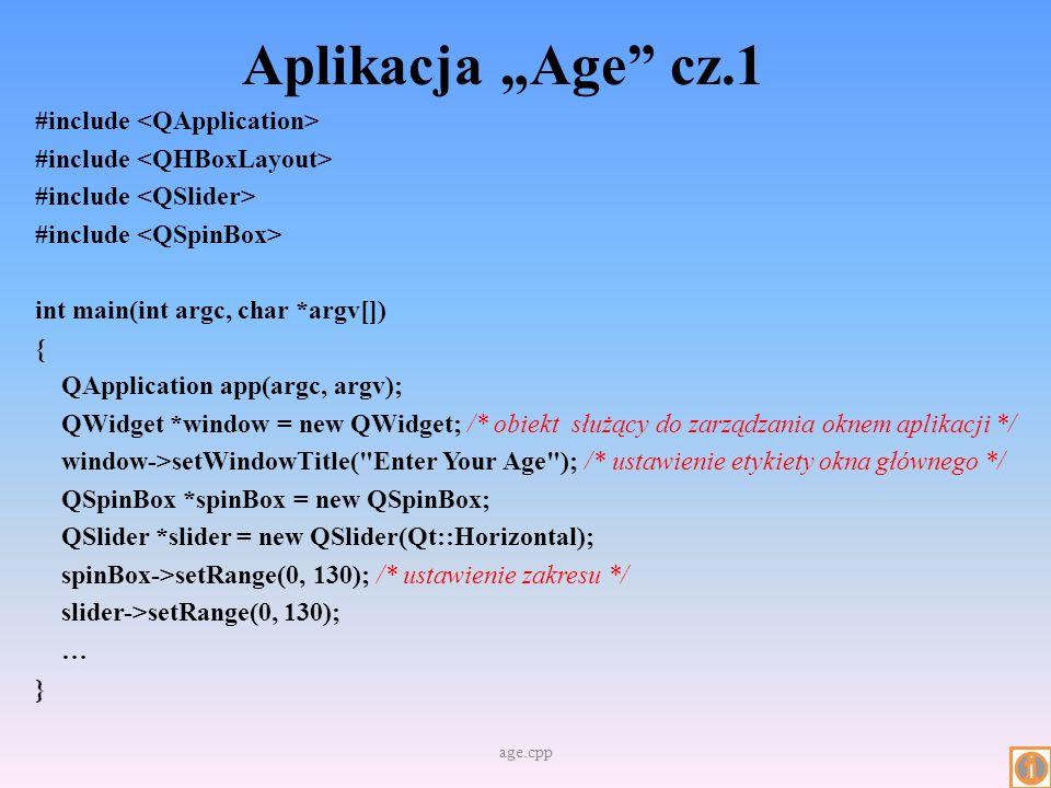 """Aplikacja """"Age cz.1"""
