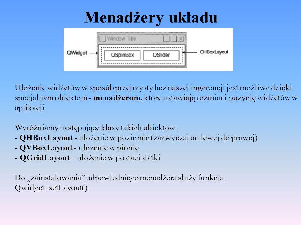 Menadżery układu