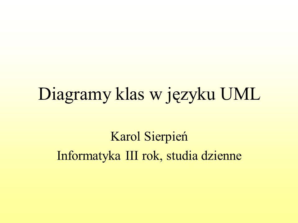 Diagramy klas w języku UML