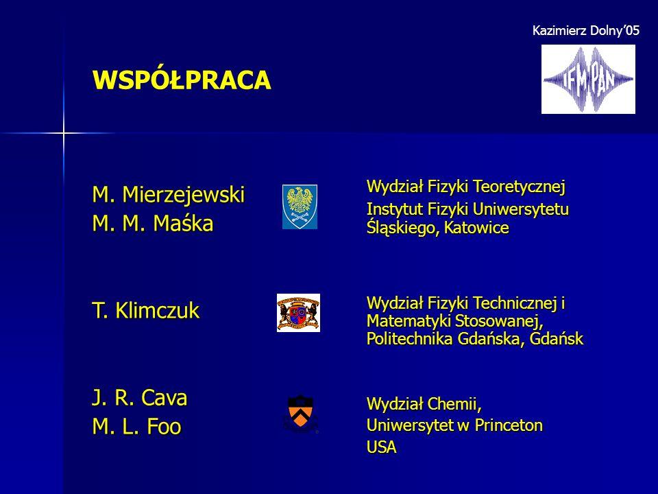 WSPÓŁPRACA M. Mierzejewski M. M. Maśka T. Klimczuk J. R. Cava