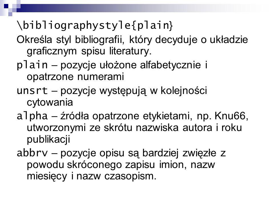 \bibliographystyle{plain}