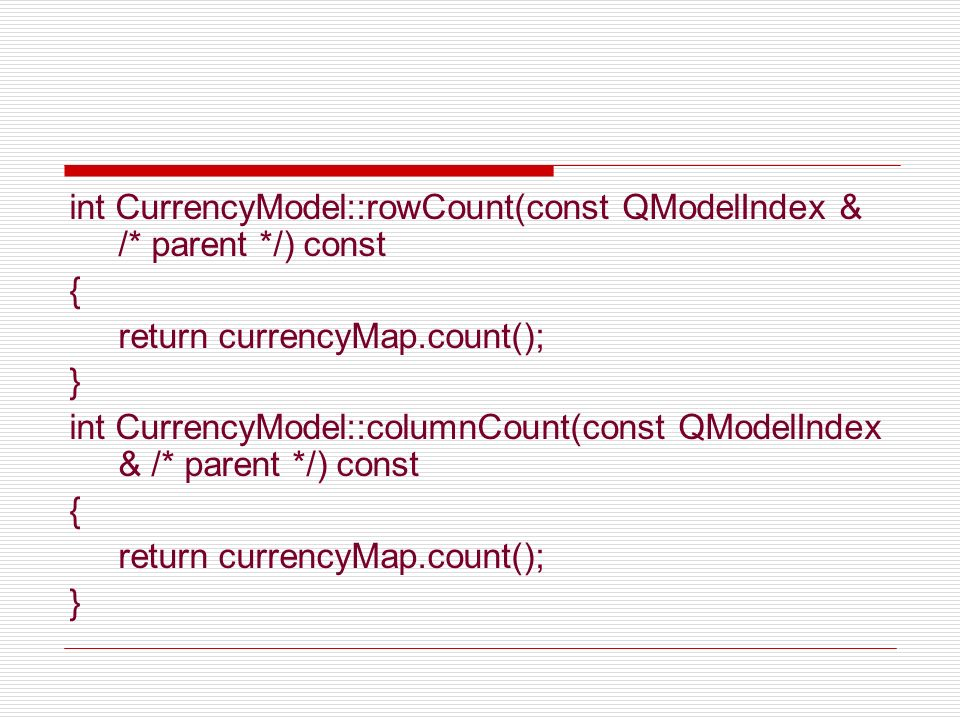 int CurrencyModel::rowCount(const QModelIndex & /* parent */) const
