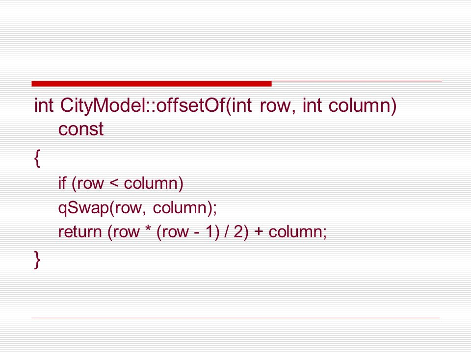 int CityModel::offsetOf(int row, int column) const {