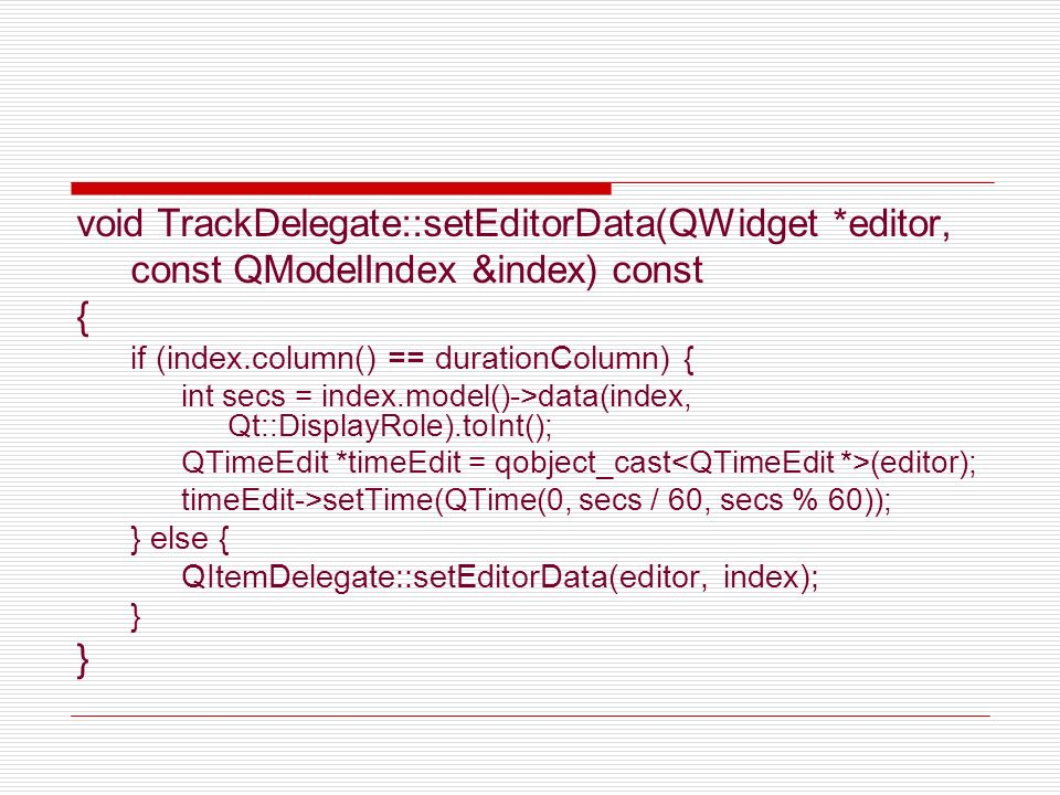 void TrackDelegate::setEditorData(QWidget *editor,