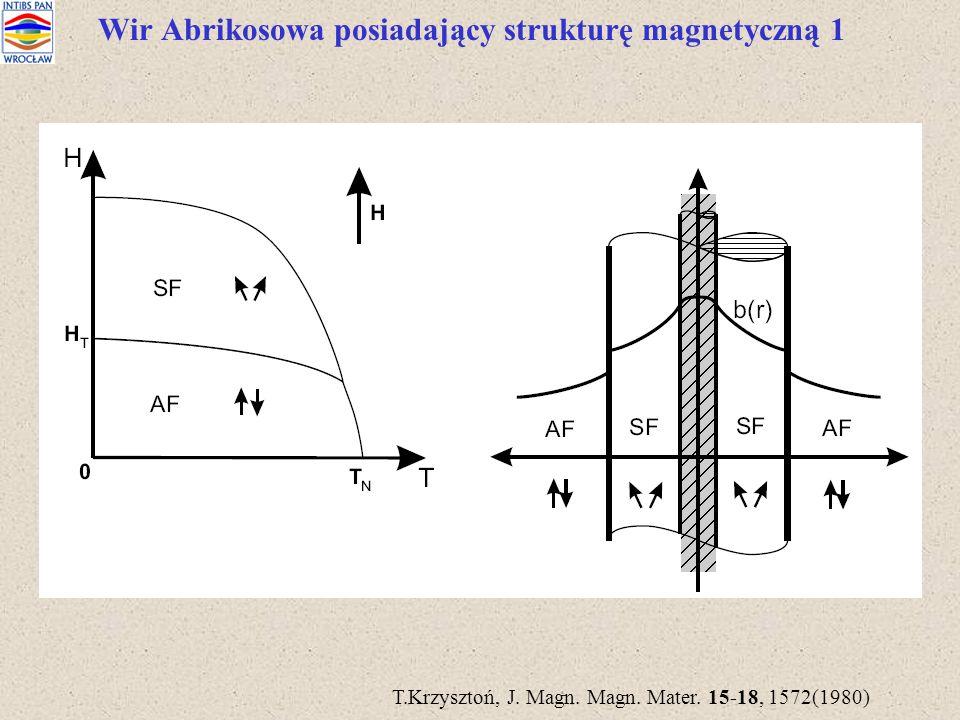 Wir Abrikosowa posiadający strukturę magnetyczną 1