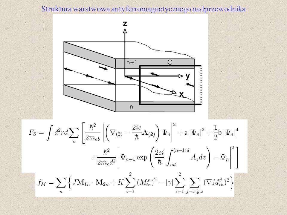 Struktura warstwowa antyferromagnetycznego nadprzewodnika