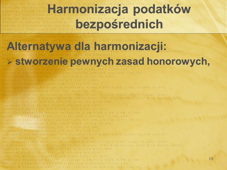 Harmonizacja podatków bezpośrednich