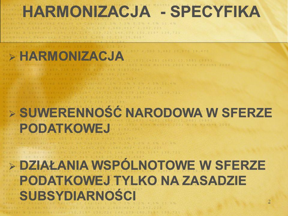 HARMONIZACJA - SPECYFIKA