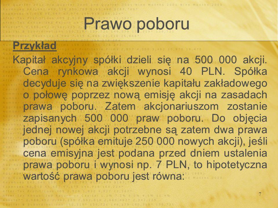 Prawo poboru Przykład.