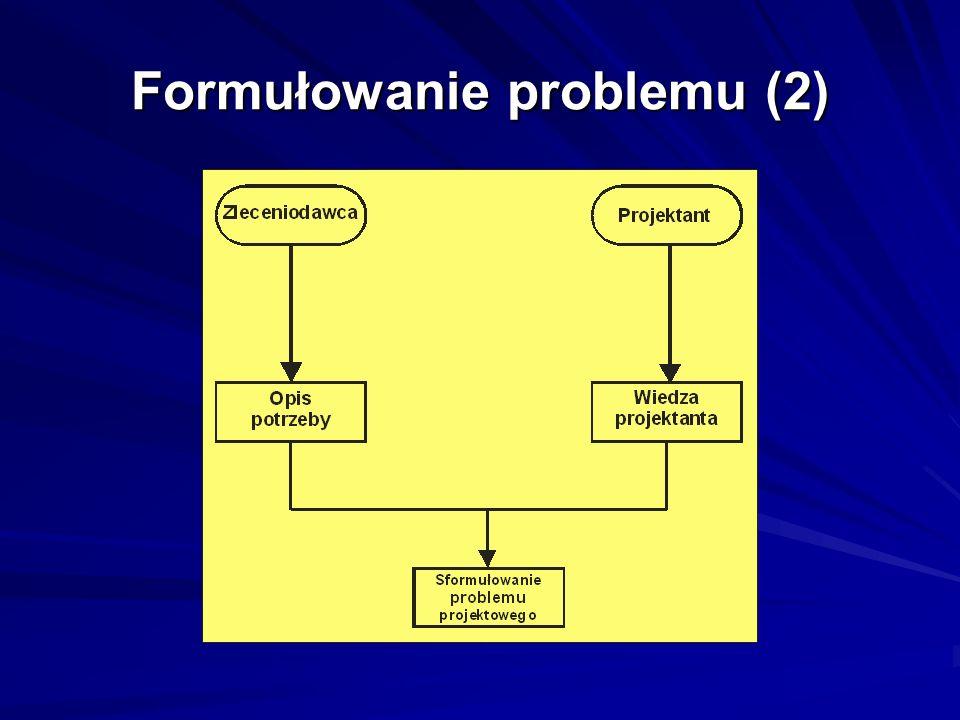 Formułowanie problemu (2)