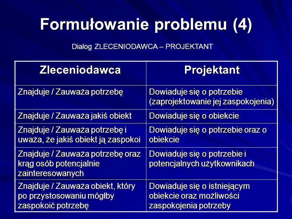 Formułowanie problemu (4)